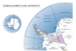 Map of Queen Elizabeth Land