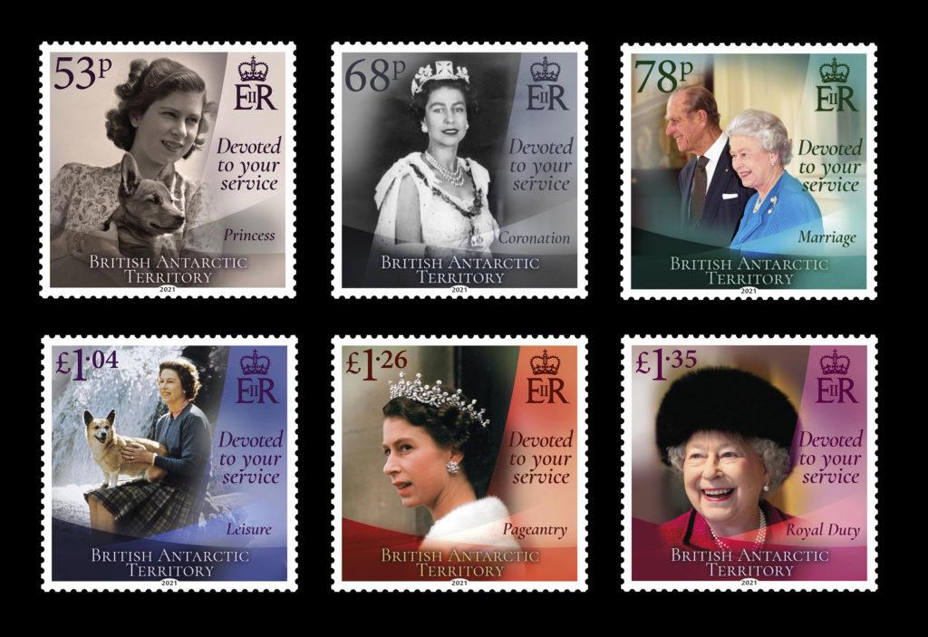 BAT Stamps marking Her Majesty's 95th Birthday